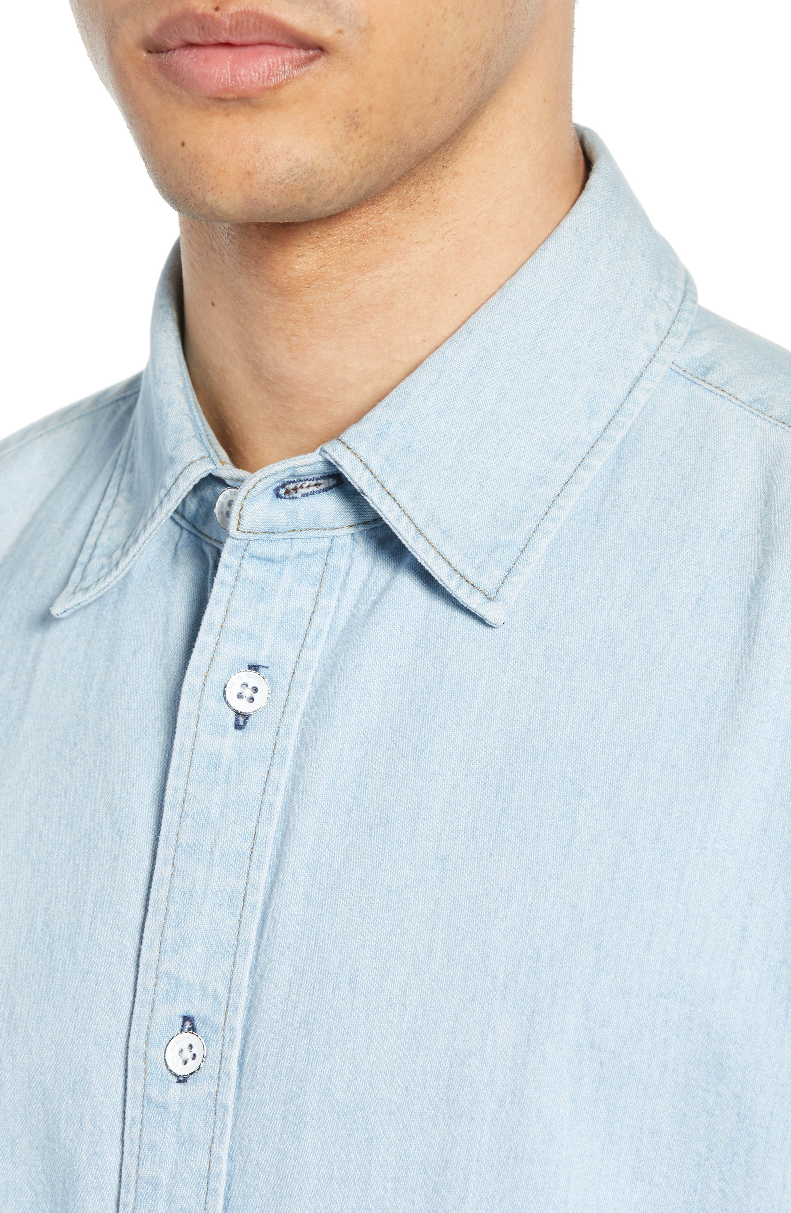 ,                             Fit 3 Regular Fit Denim Shirt,                             Alternate thumbnail 2, color,                             DUSK