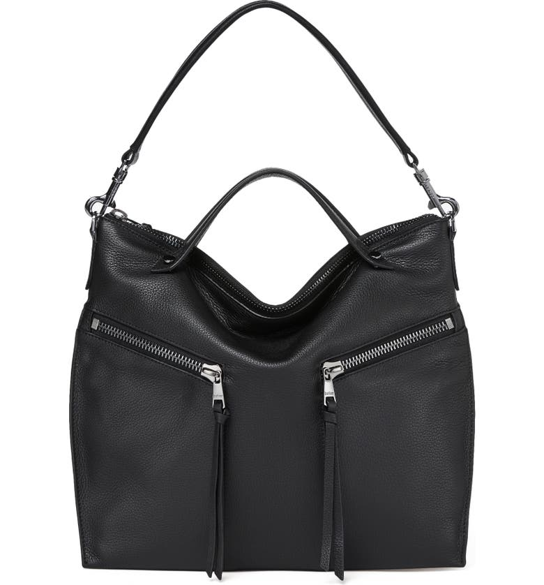 BOTKIER Trigger Convertible Hobo Bag, Main, color, BLACK