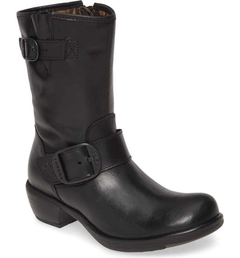 FLY LONDON Myst Bootie, Main, color, BLACK LEATHER
