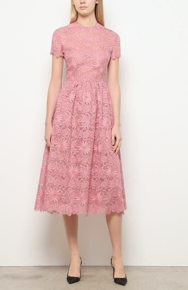 Floral Organza Midi Dress, video thumbnail