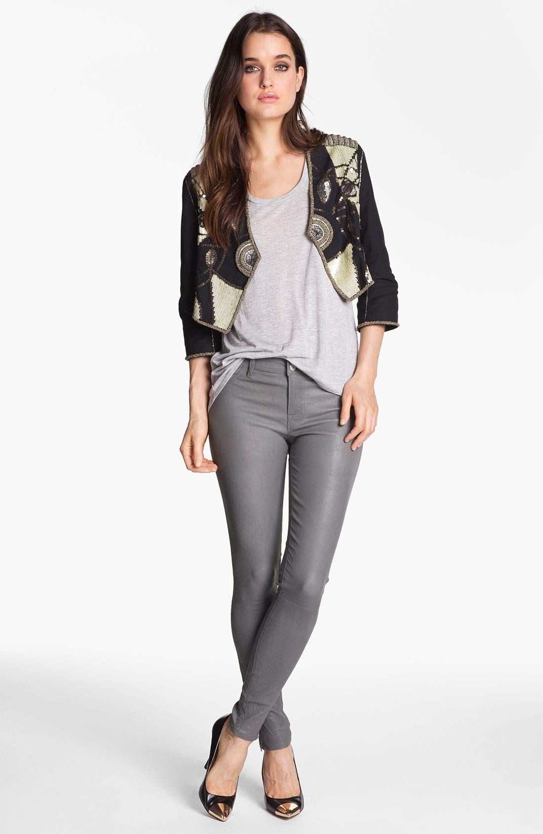 ,                             '8001' Lambskin Leather Pants,                             Alternate thumbnail 43, color,                             022