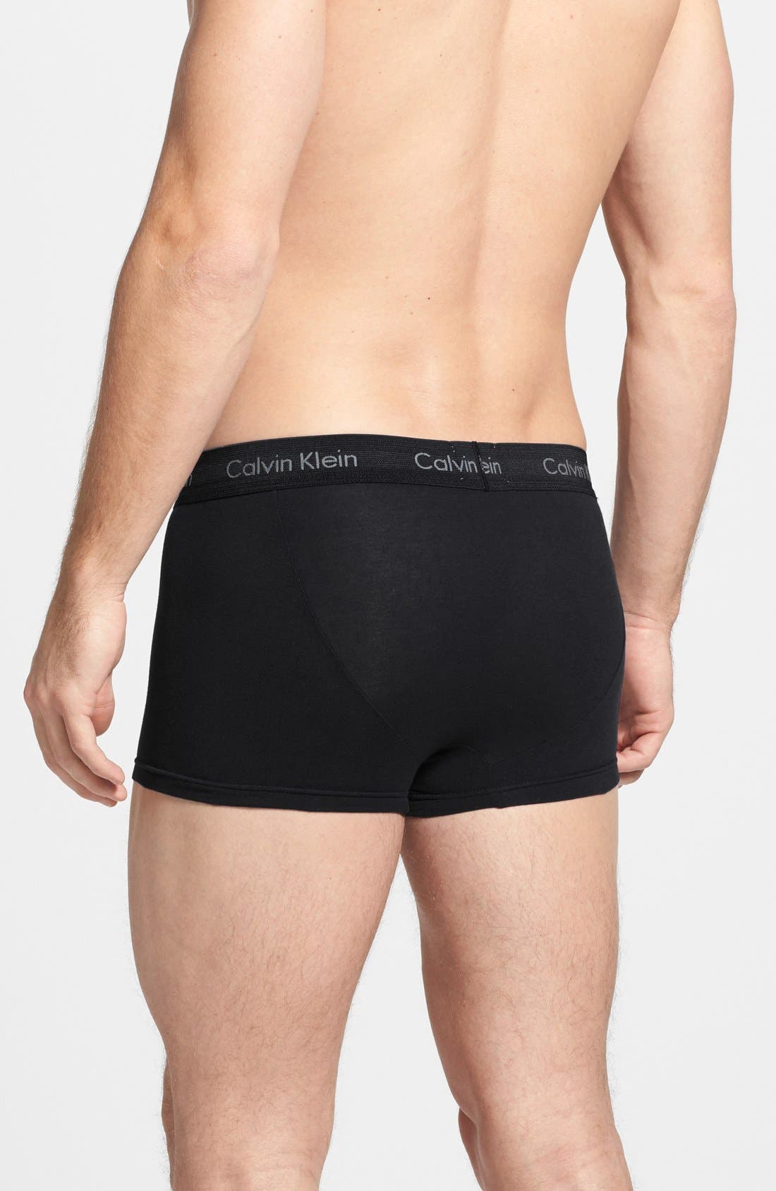 ,                             3-Pack Stretch Cotton Low Rise Trunks,                             Alternate thumbnail 153, color,                             001