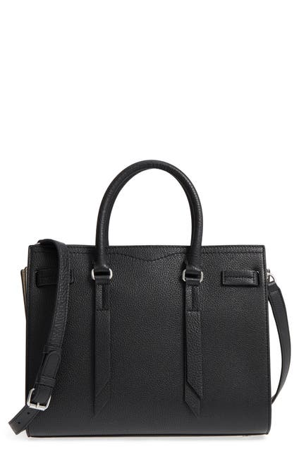 Image of Rebecca Minkoff Sherry Leather & Suede Colorblock Satchel