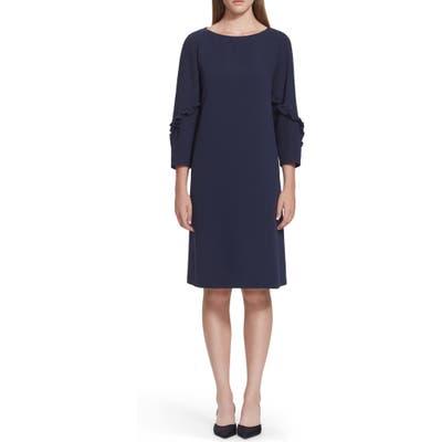 Lafayette 148 New York Abigail Finesse Crepe Dress, Blue