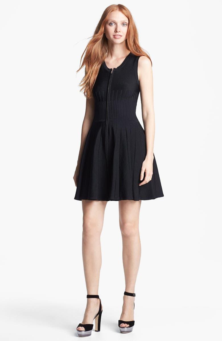PARKER 'Amanda' Knit Fit & Flare Dress, Main, color, 001