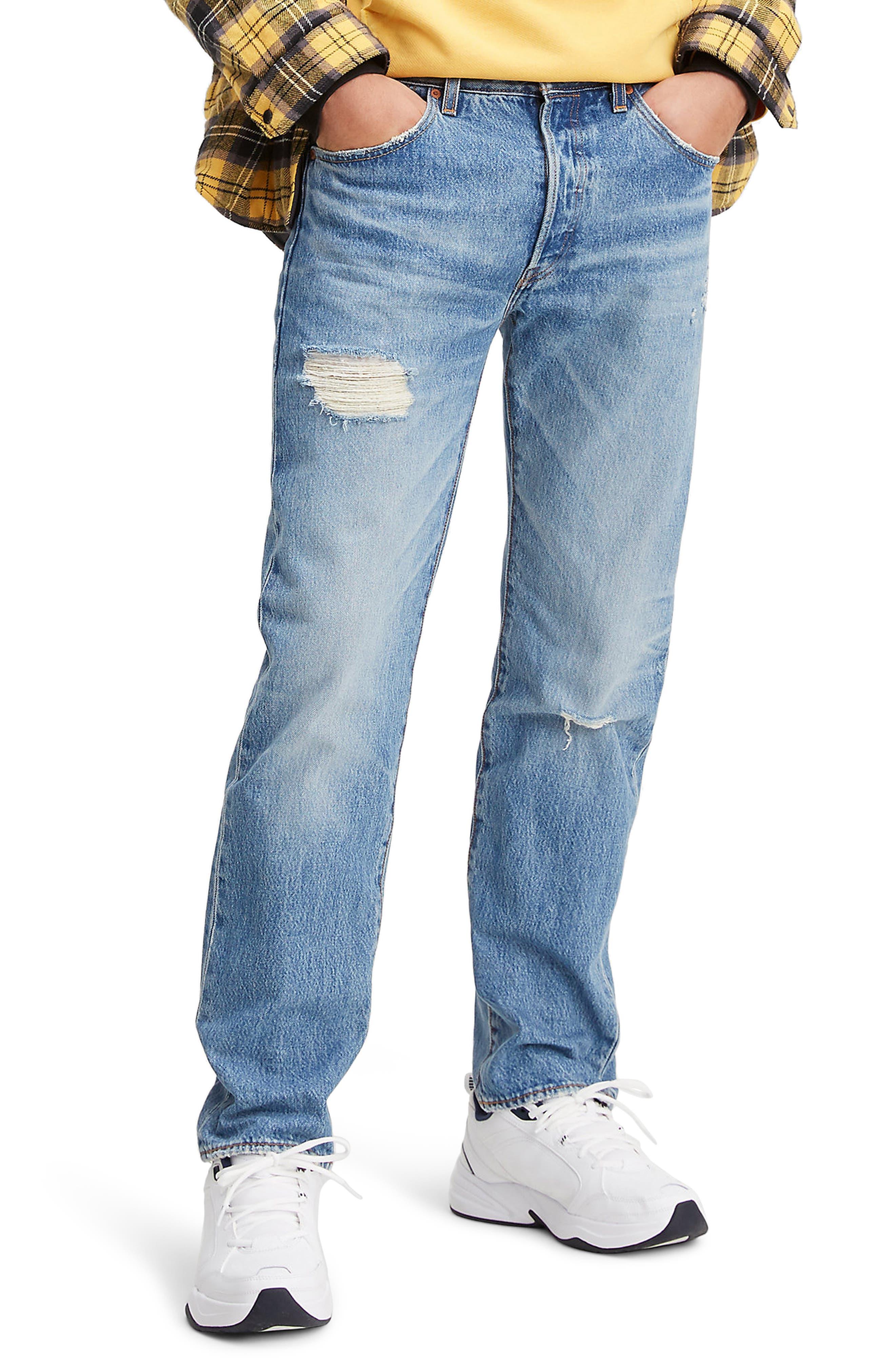Men's Levi's 501 '93 Ripped Straight Leg Jeans,  29 x 32 - Blue