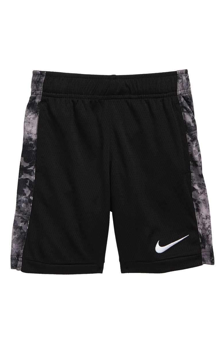 NIKE Dry Print Trophy Athletic Shorts, Main, color, BLACK