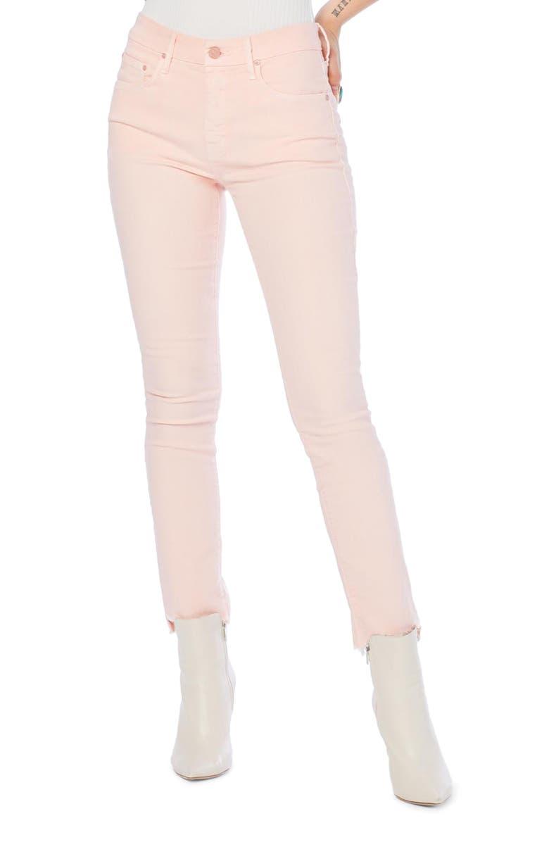 MOTHER The Looker Frayed Step Hem Ankle Skinny Jeans, Main, color, 650