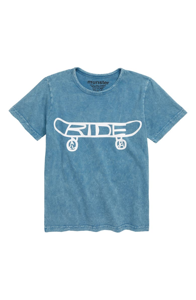 MUNSTERKIDS Ride All Day Graphic T-Shirt, Main, color, ACID BLUE