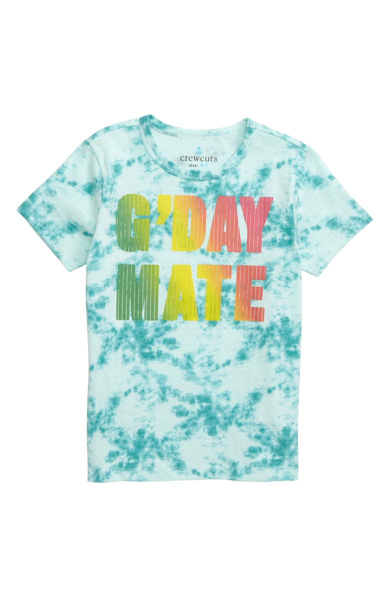 CREWCUTS BY J.CREW G'Day Mate Tie Dye T-Shirt, Main, color, 440