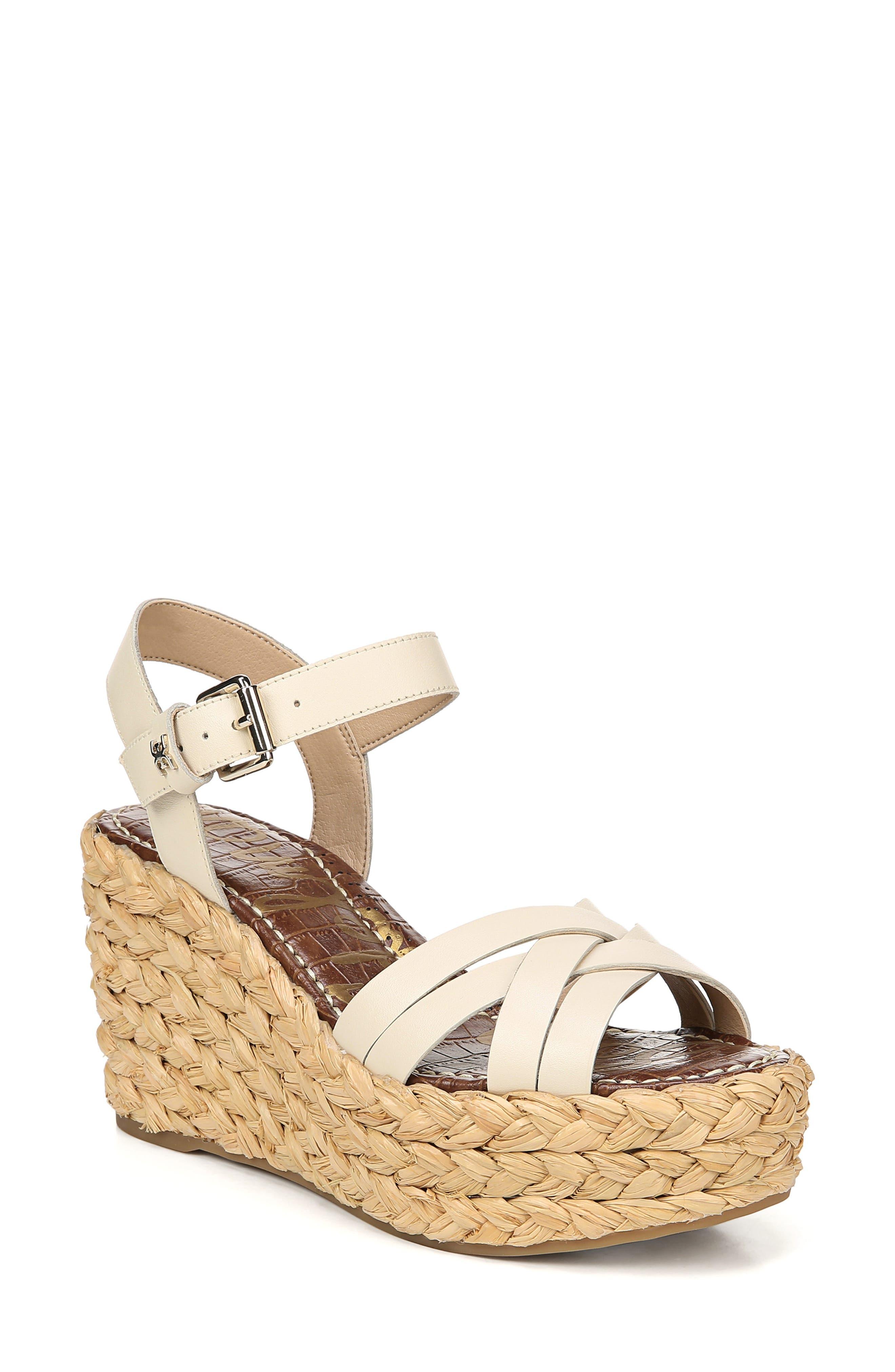 Sam Edelman Darline Platform Wedge Sandal, White