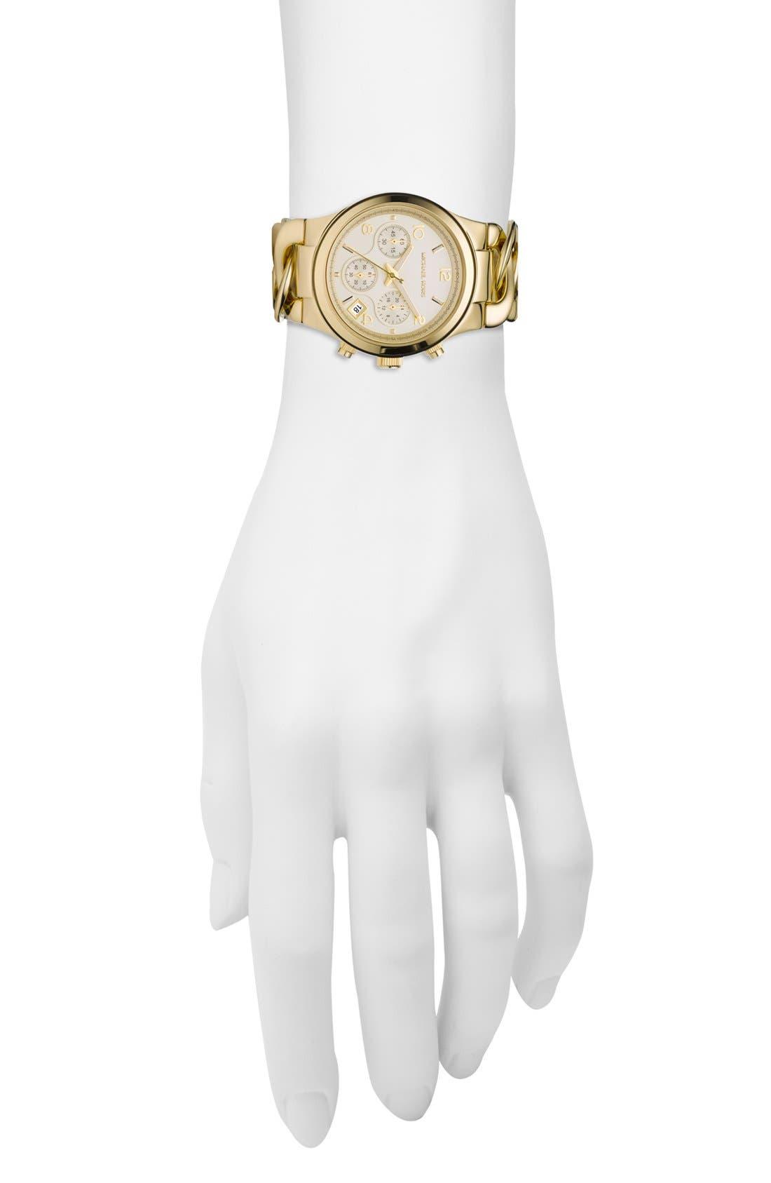 ,                             Michael Kors Chain Bracelet Chronograph Watch, 38mm,                             Alternate thumbnail 14, color,                             710