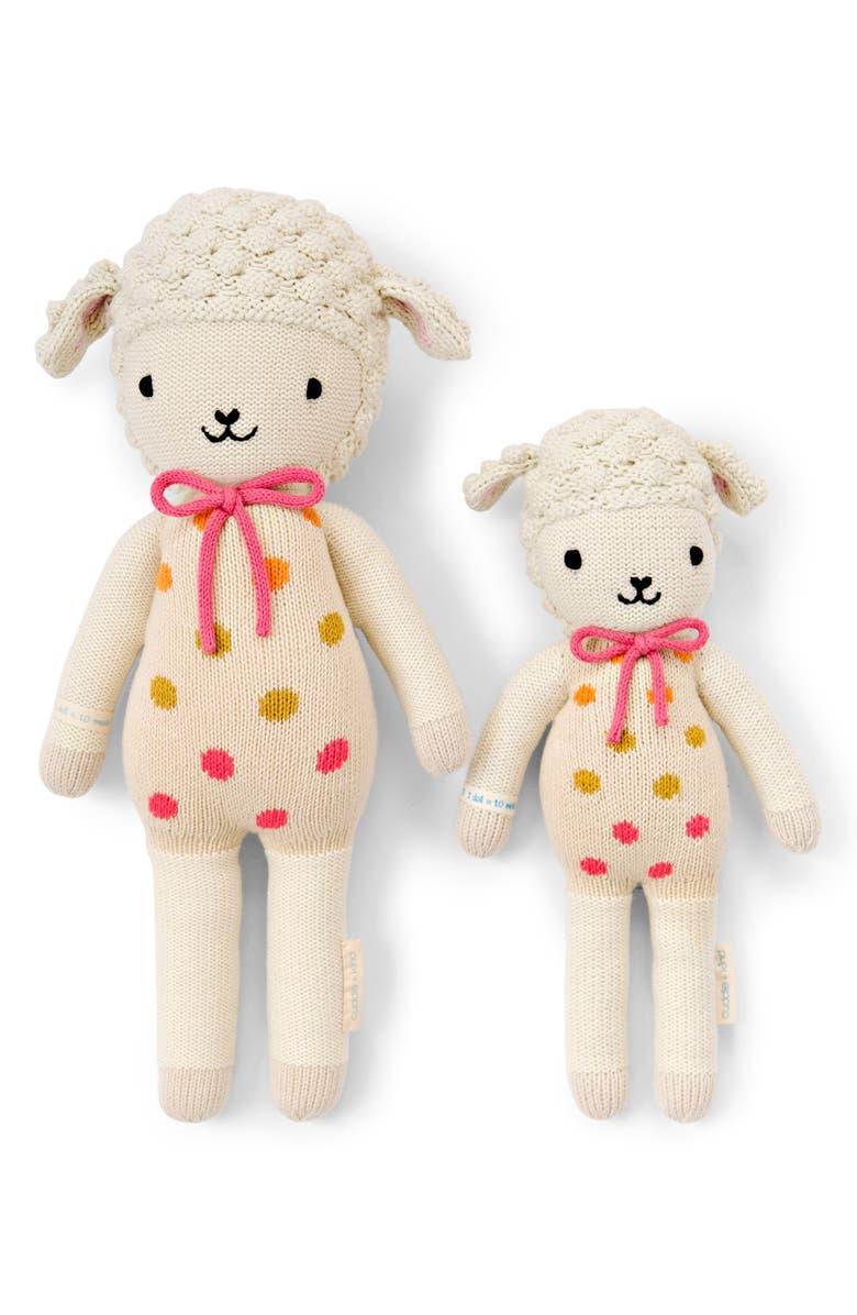 CUDDLE+KIND cuddle + kind Lucy the Lamb Stuffed Animal, Main, color, WHITE