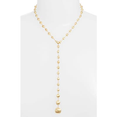 Marco Bicego Africa 18K Gold & Diamond Lariat Necklace