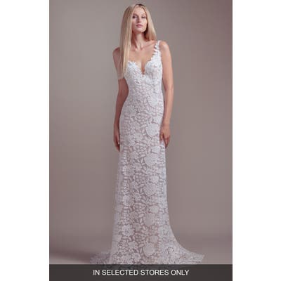 Blush By Hayley Paige Atlas V-Neck Lace Wedding Dress