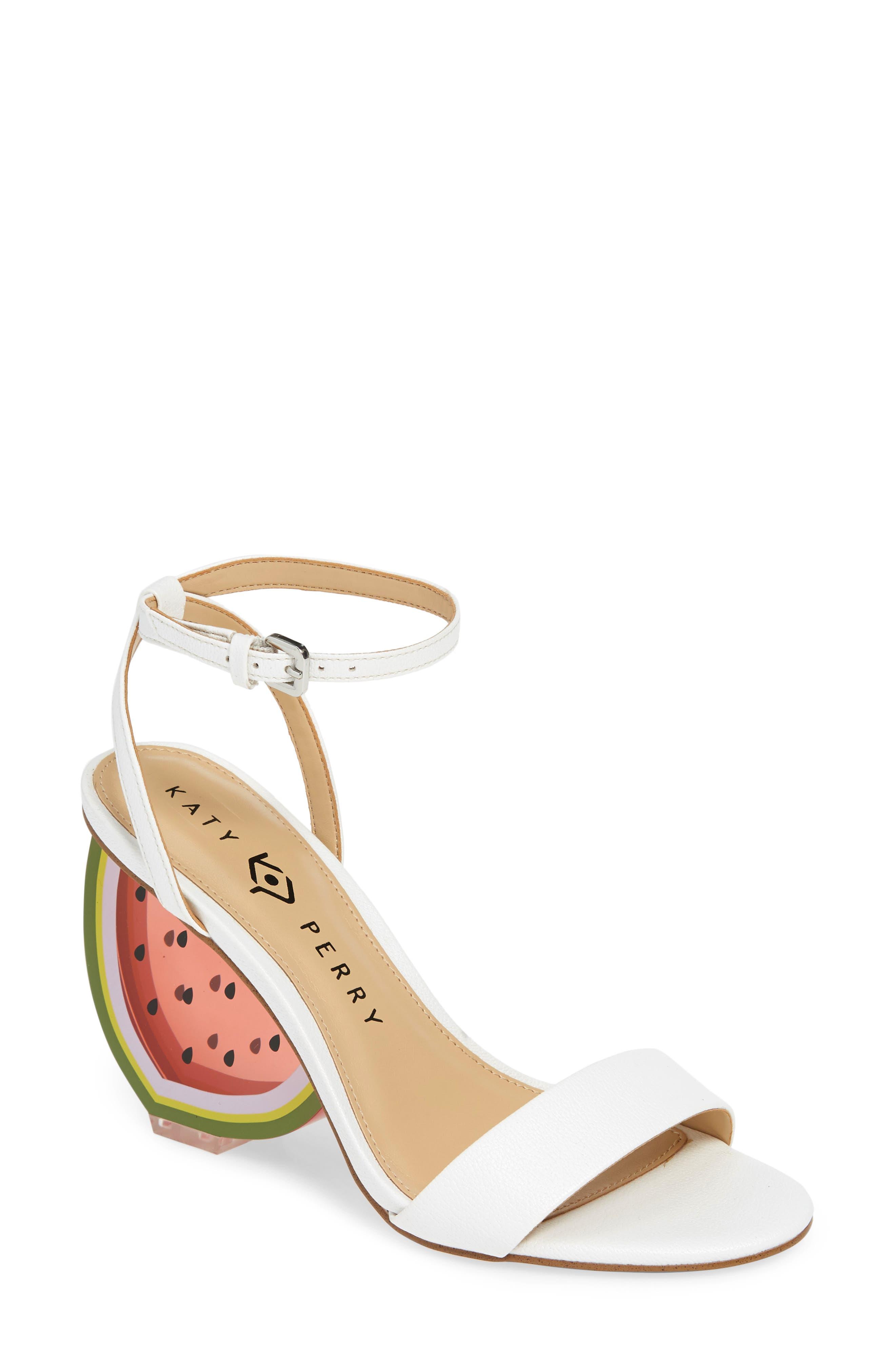 Katy Perry Petra Clear Watermelon Heel