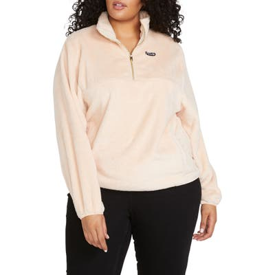 Plus Size Volcom Pheelin Phuzzy Pullover, Pink
