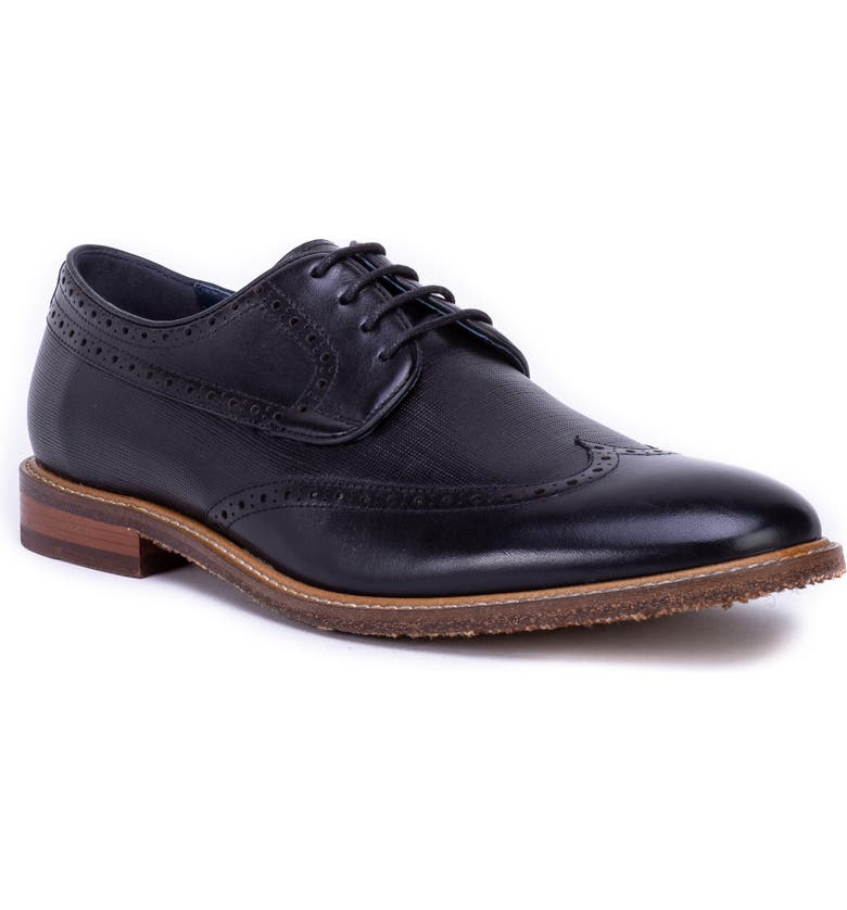 ZANZARA Andy Wingtip, Main, color, BLACK LEATHER