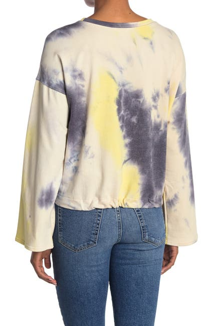 Image of 14th & Union Tie Dye Drawstring Sweatshirt