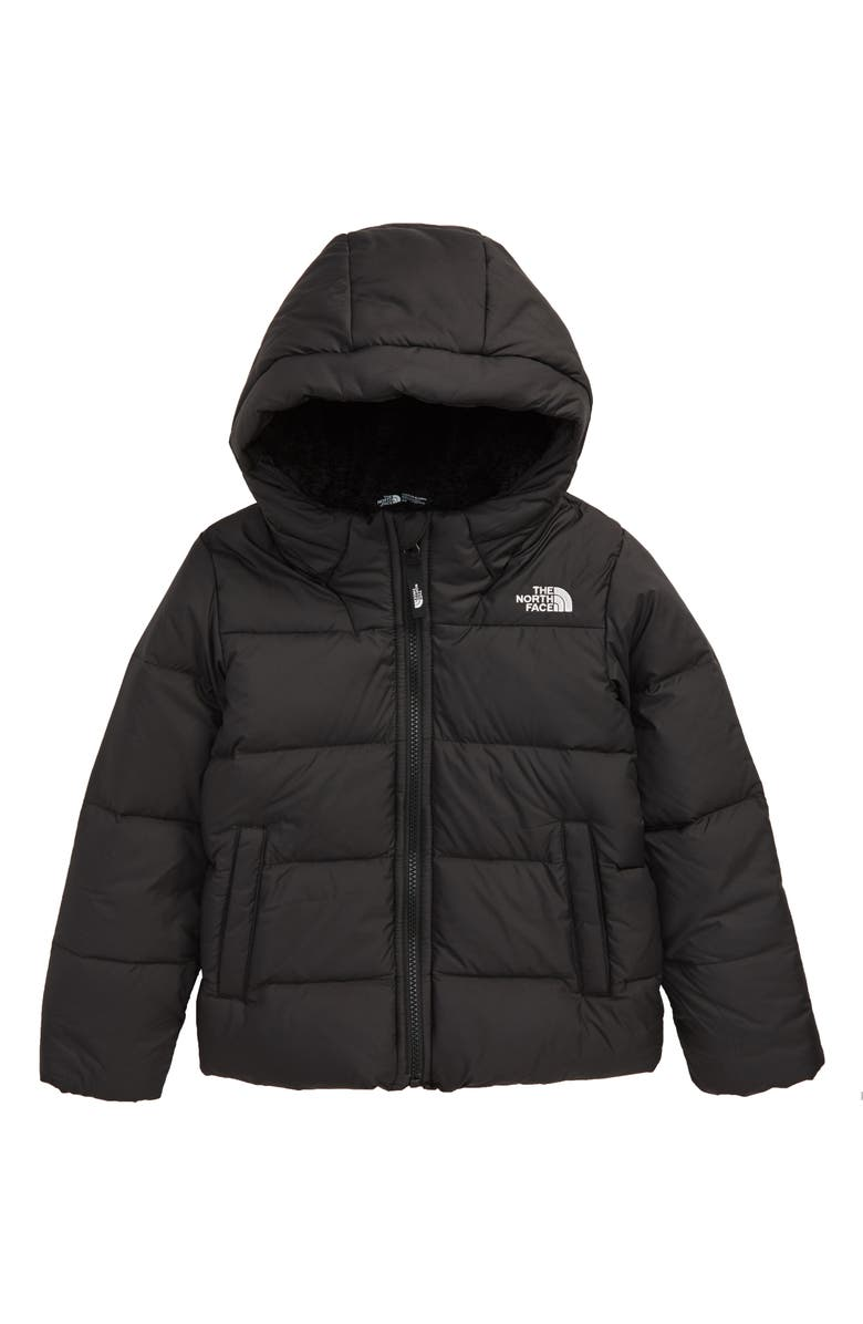 THE NORTH FACE Moondoggy Water Repellent Down Hooded Jacket, Main, color, TNF BLACK