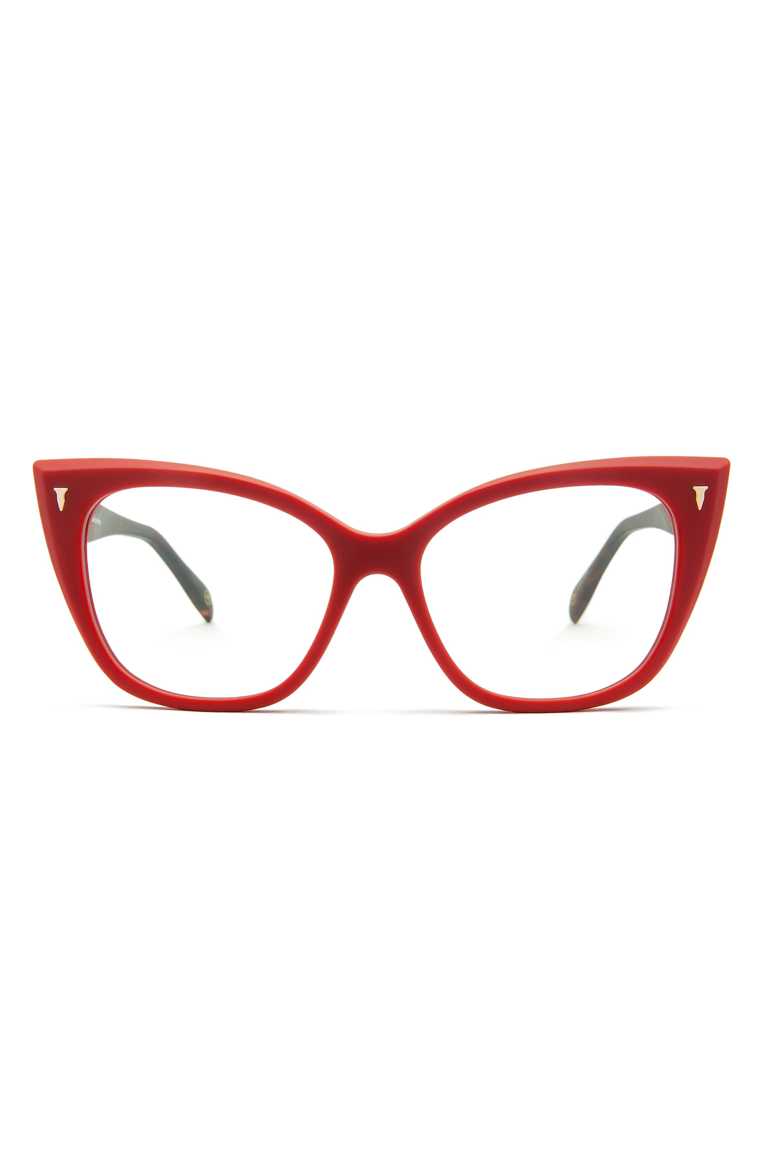 54mm Blue Light Blocking Cat Eye Glasses