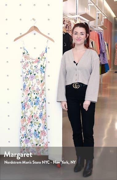 Alice + OIivia Harmony Floral Drapey Side Slit Dress, sales video thumbnail