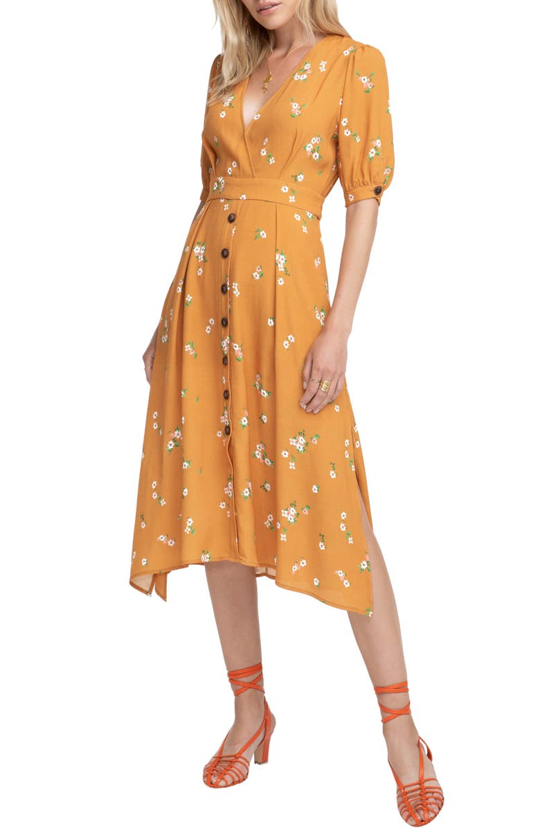 ASTR THE LABEL Oakley Prairie Dress, Main, color, APRICOT FLORAL