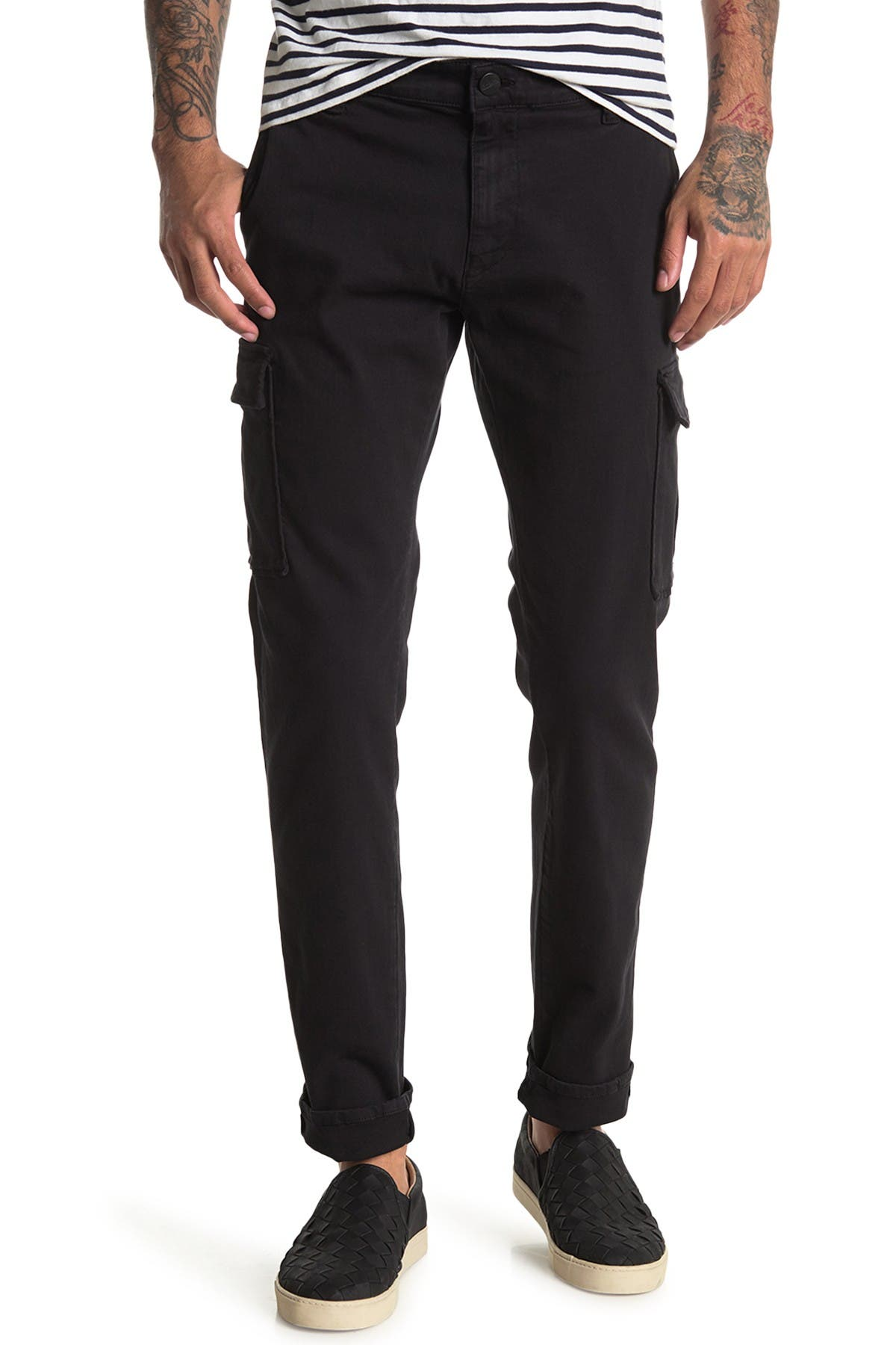 Image of 34 Heritage 34 Carson Black Twill Cargo Pants