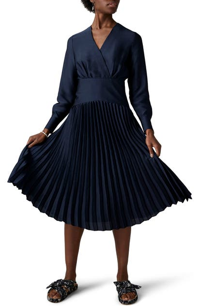 Scotch & Soda SURPLICE V-NECK LONG SLEEVE DRESS