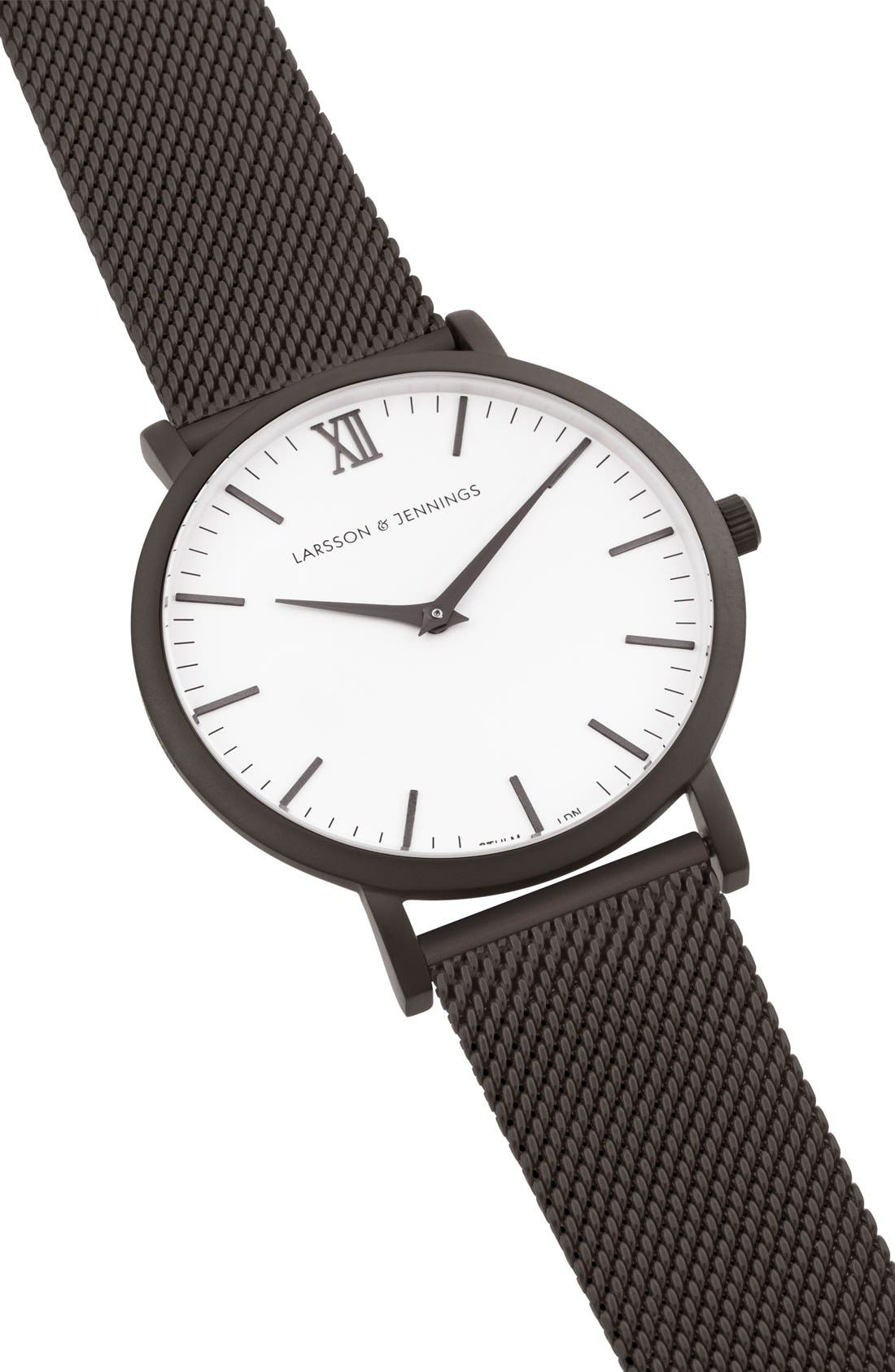 ,                             Lugano Mesh Strap Watch, 40mm,                             Alternate thumbnail 10, color,                             020