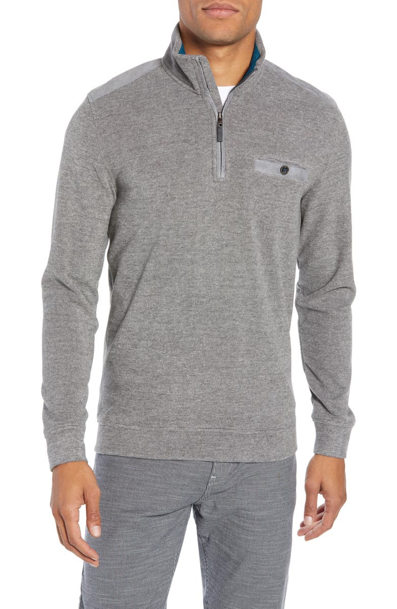 TED BAKER LONDON Decc Slim Fit Quarter Zip Pullover, Main, color, 020