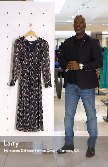 Hazel Long Sleeve Midi Dress, sales video thumbnail