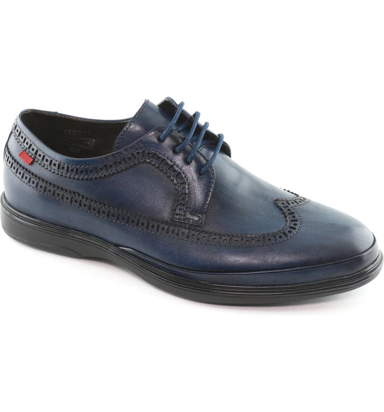MARC JOSEPH NEW YORK William Street Longwing Derby, Main, color, NAVY LEATHER