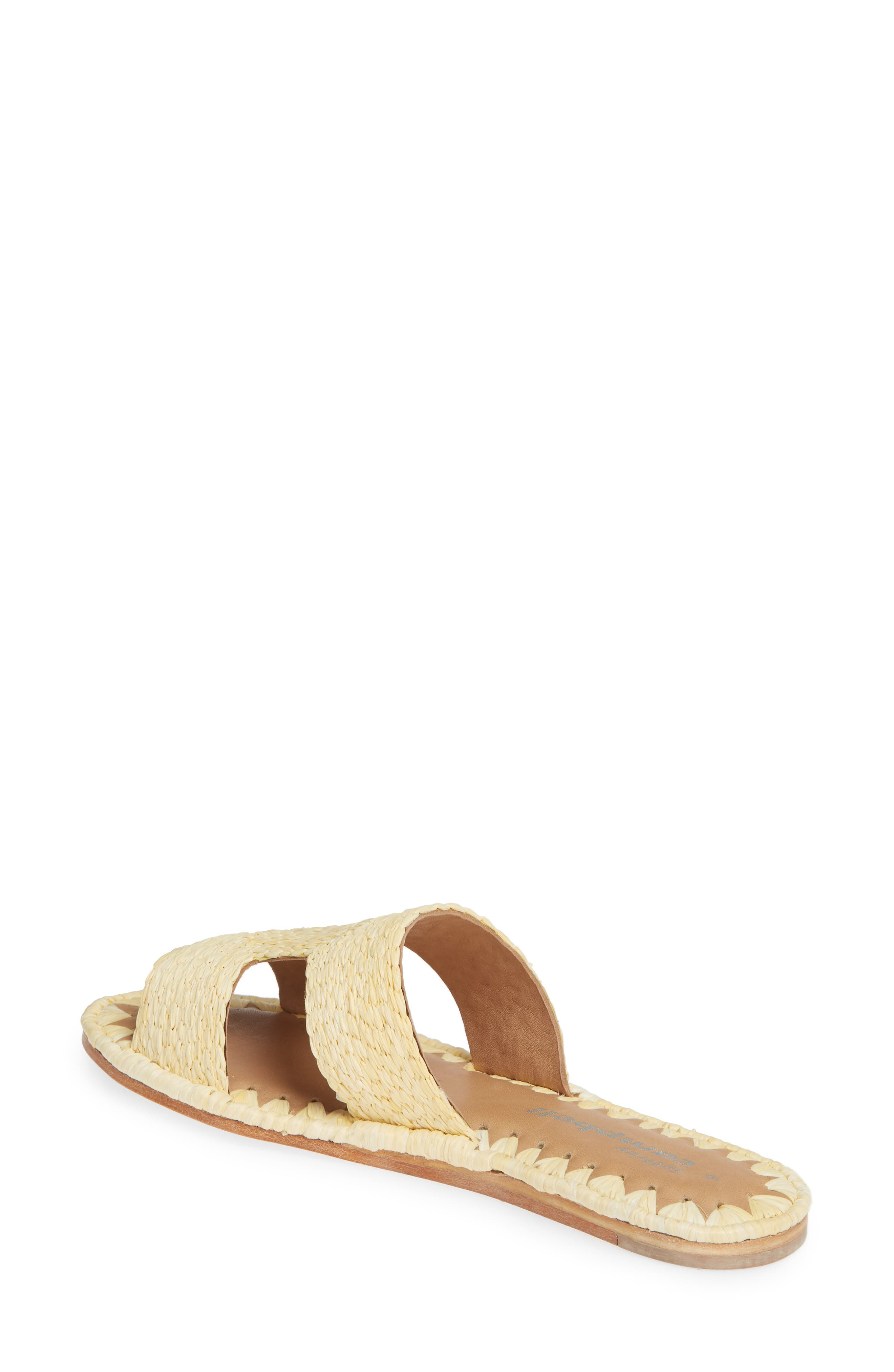 ,                             Ernon Raffia Slide Sandal,                             Alternate thumbnail 2, color,                             NATURAL
