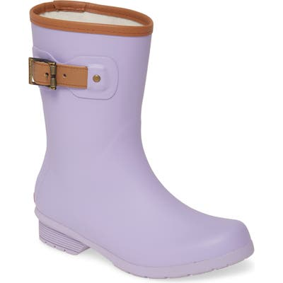 Chooka City Solid Mid Height Rain Boot, Purple