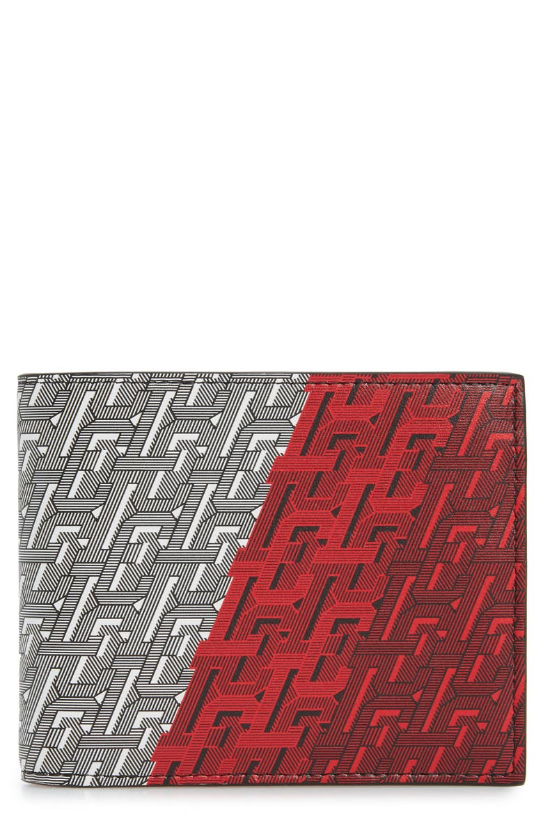 CHRISTIAN LOUBOUTIN Logo Leather Wallet, Main, color, M024 MULTI