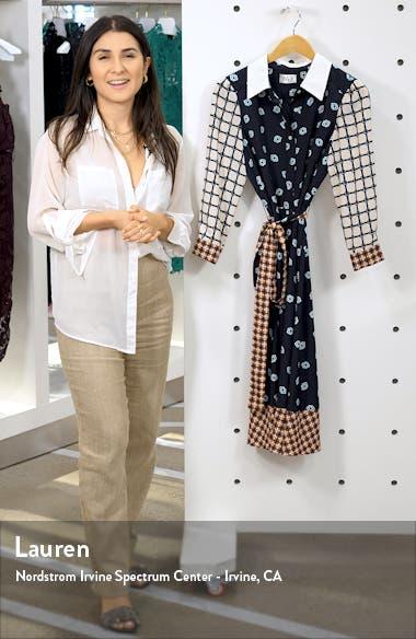 Geo Print Belted Shirtdress, sales video thumbnail