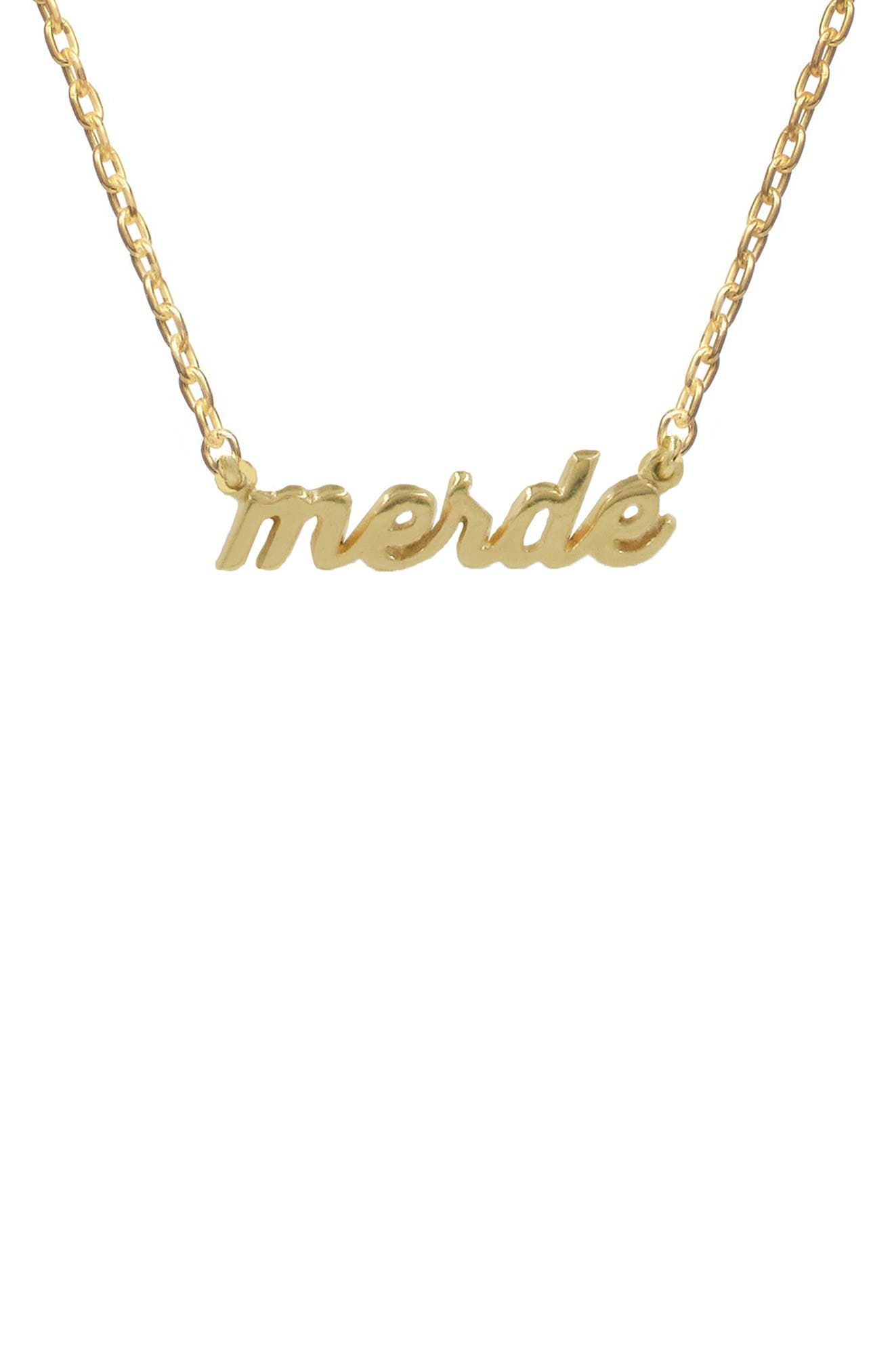 Merde Pendant Necklace