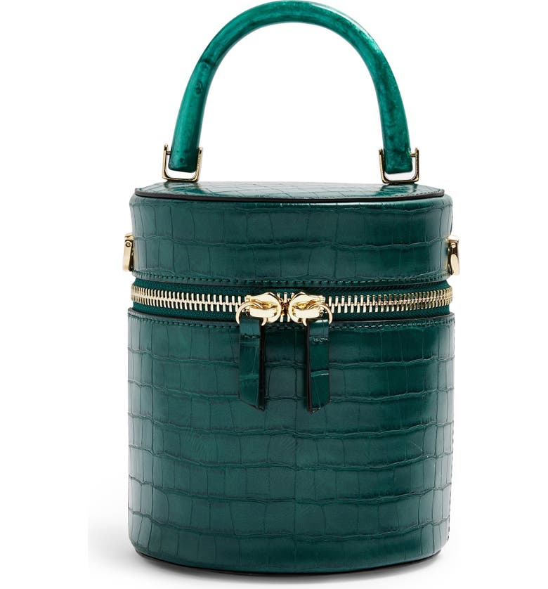 TOPSHOP Simi Barrel Bag, Main, color, GREEN