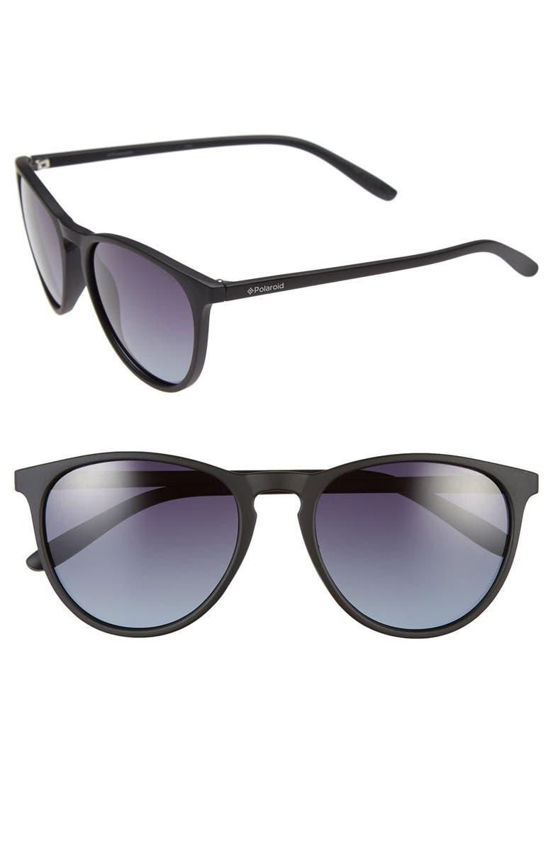 POLAROID Eyewear 54mm Polarized Sunglasses, Main, color, BLACK/ GRADIENT/ POLARIZED