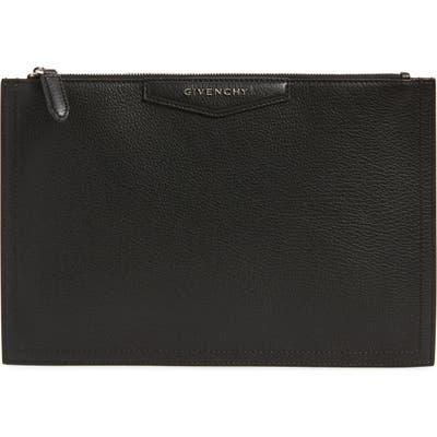Givenchy Medium Antigona Leather Pouch - Black