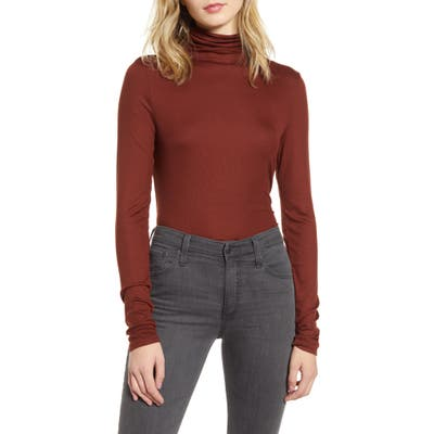 Ag Chels Turtleneck Top, Red