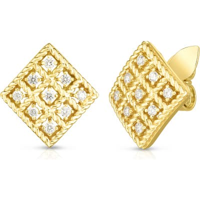 Roberto Coin Byzantine Barocco Diamond Earrings