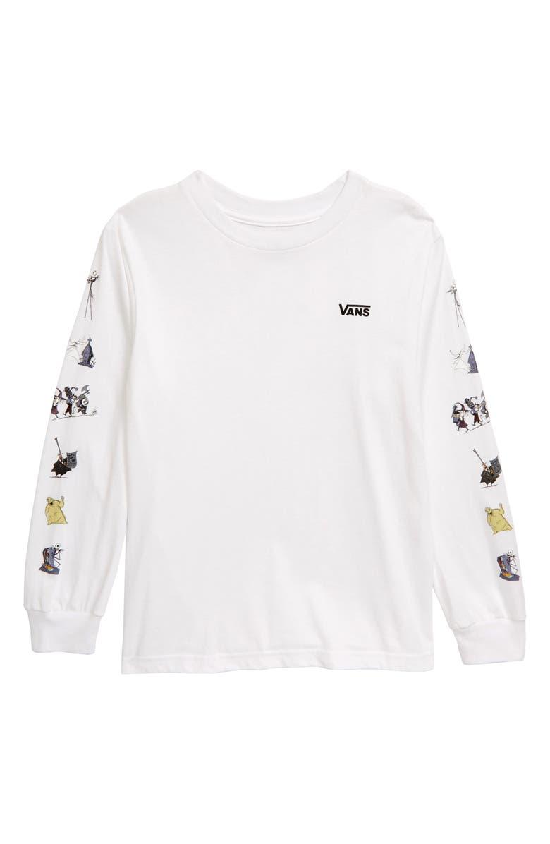 VANS Nightmare Before Christmas Long Sleeve T-Shirt, Main, color, WHITE