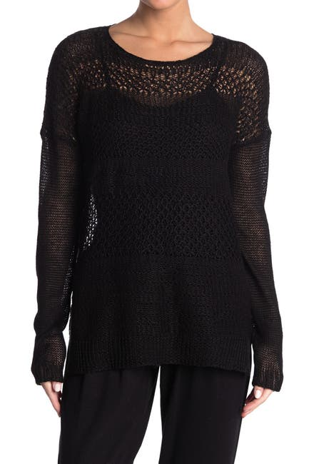 Image of Helmut Lang Open Knit Tunic Sweater