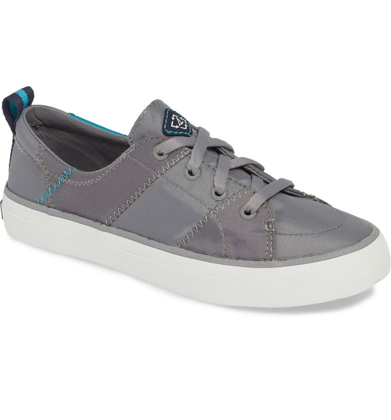 SPERRY Crest Vibe Bionic Yarn Sneaker, Main, color, GREY/ TEAL FABRIC