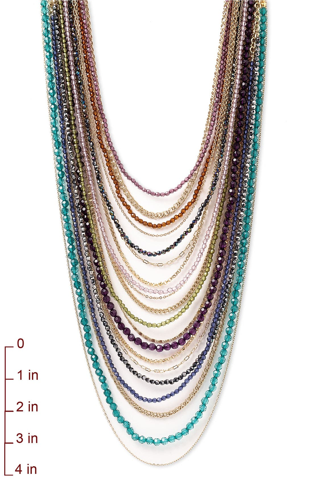 ,                             Beaded Long Multistrand Necklace,                             Alternate thumbnail 13, color,                             400
