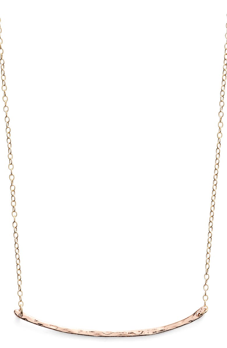 GORJANA Taner Bar Small Necklace, Main, color, ROSE GOLD
