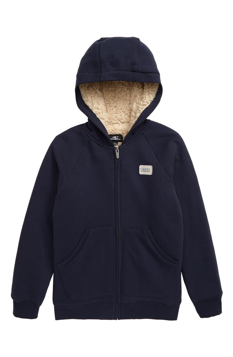 O'NEILL Fleece Lined Full Zip Hoodie, Main, color, 438