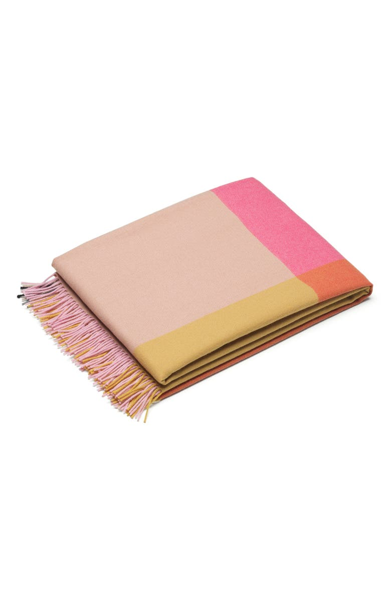 VITRA Colorblock Wool Blanket, Main, color, 250